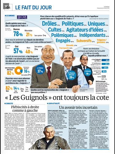 Le retour tant attendu pour Les guignols de Canal + version Bolloré / Capture écran le Parisien