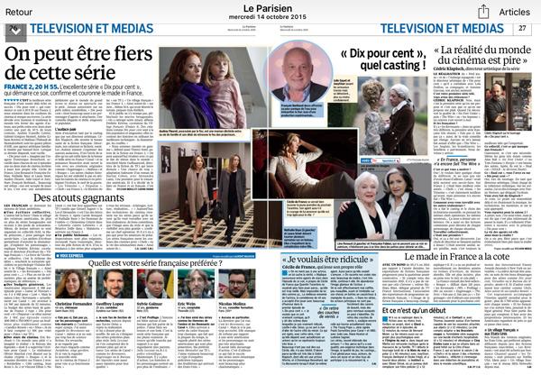 Audience pour Dix pour cent très attendue : la série star de la presse écrite