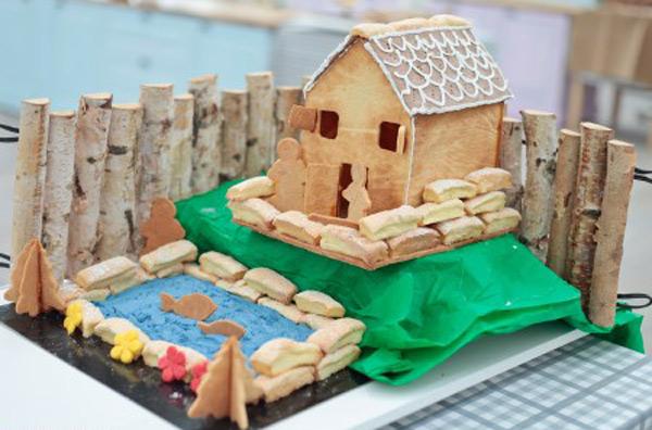 Maison avec piscine en gateaux 3D dans #LMP / Photo Lou breton