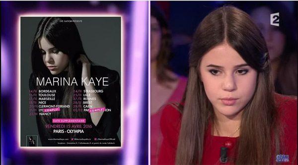 La jeune Marina Kaye a fait sensation dans On n'est pas couché sur France 2