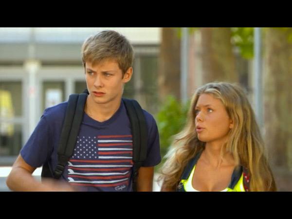 Nicky et Léa inquiets du racket pour Erwan.