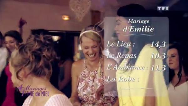 Les notes d'Emilie et Guillaume dans 4 mariages pour 1 lune de miel / #4MP1LDM
