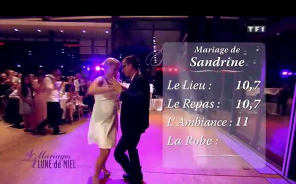 Les notes du mariages de Sandrine : 10,7 pour le lieu et le repas et enfin 11 pour l'ambiance