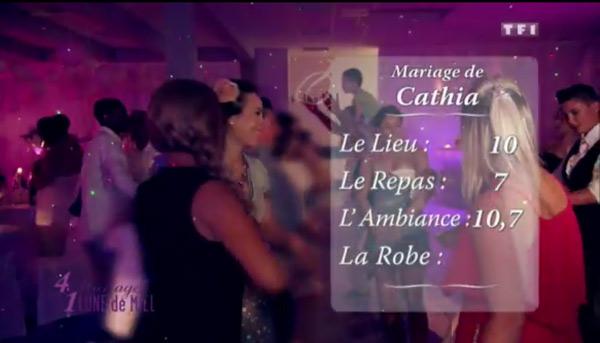 Les notes du mariage gay de Cathia : 10 pour le lieu, 10,7 pour l'ambiance et 7 pour le repas dans 4 mariages