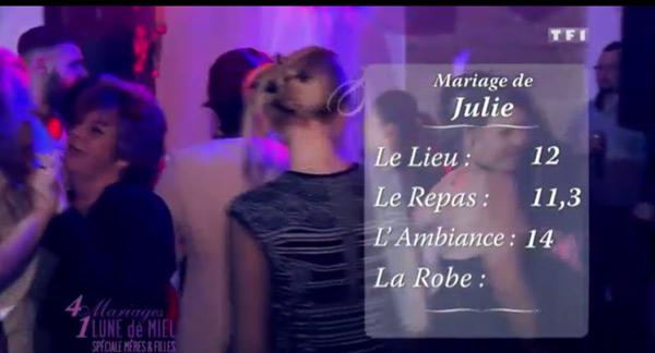 Les notes de Julie dans 4 mariages pour 1 lune de miel le jeudi 1er octobre