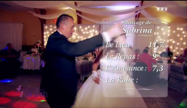 Les notes de Sabrina dans 4 mariages pour 1 lune de miel