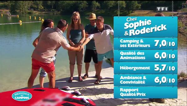 Les notes de Sophie et Roderick dans Bienvenue au camping ?