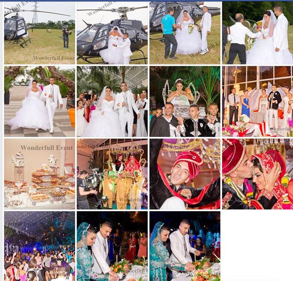 Les photos du Mariage d'Anissa et Medhi avec Mohamed le wedding planner de #4MP1LDM / Capture écran