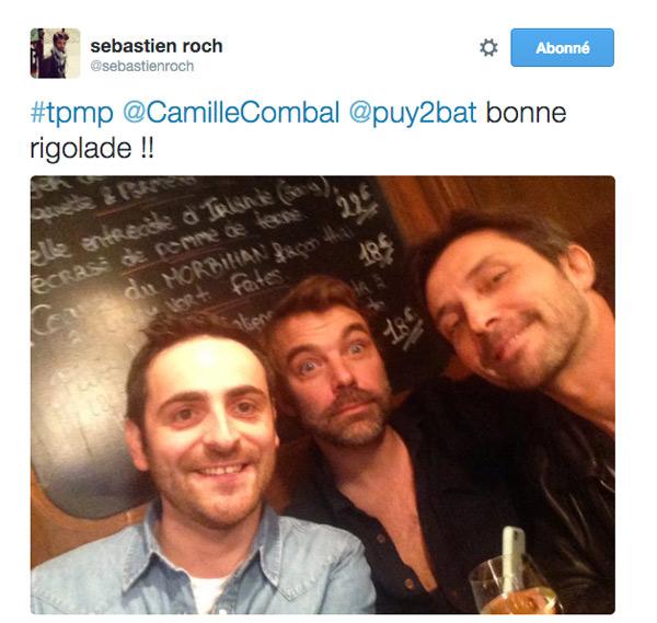 Camille Combal avec Nicolas et Christian de LMDLA