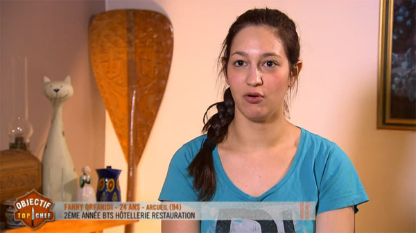 Fanny gagnante mercredi d'Objectif Top Chef
