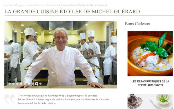 Michel Guérard chef étoilé dans Top Chef 2016 / Capture écran site officiel michelguerard.com