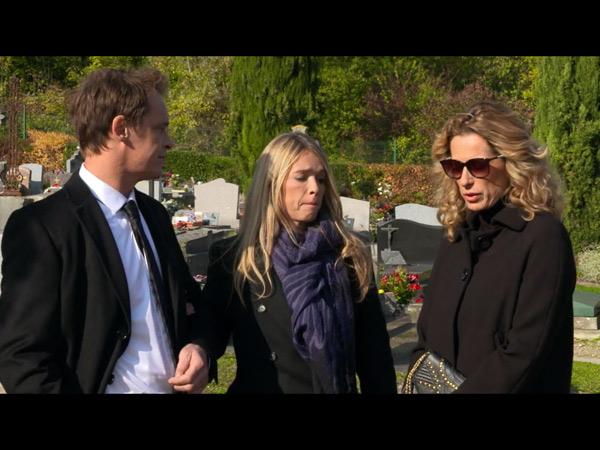 Peter, Helene et Audrey aux funérailles d'Etienne dans LMDLA