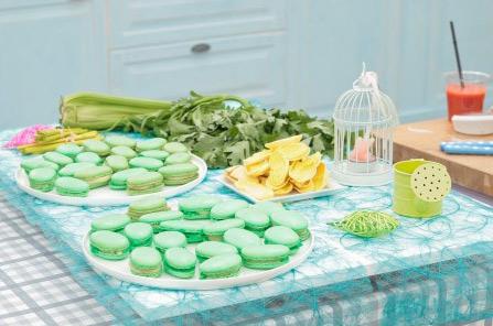 Le jardin macarons de Cyril dans le meilleur pâtissier