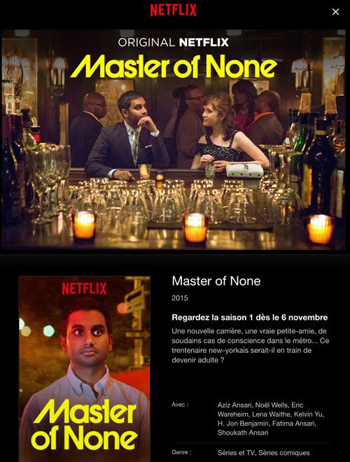 Master of None : les avis et commentaire sur la série Netflix