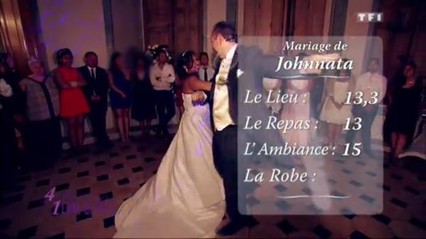 Les notes de Johnnata dans 4 mariages pour 1 lune de miel : entre 13 et 15