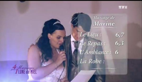 Les notes de Marine et Damien dans 4 mariages : critiques très / trop sévères