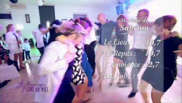 Les notes de Sabrina et Fabrice dans 4 mariages pour une lune de miel #4MP1LDM