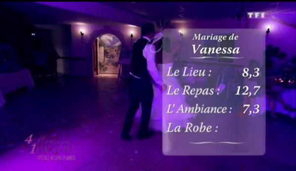 Les notes de Vanessa dans 4 mariages pour 1 lune de miel