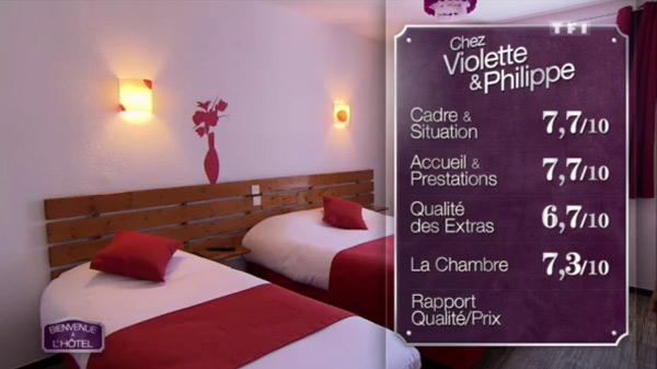 Les excellentes notes pour l'hôtel de Violette et Philippe sur TF1
