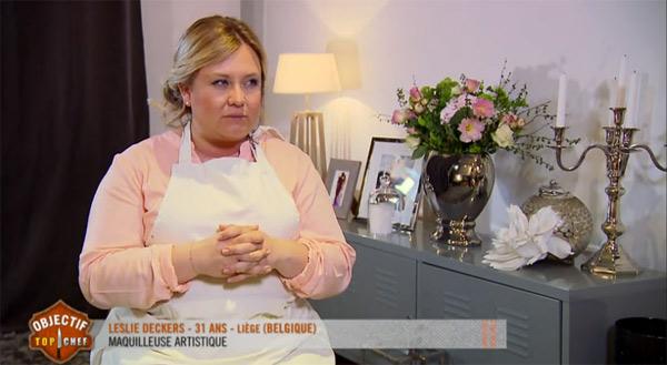 Leslie Deckers qualifiée  pour la finale Objectif Top Chef