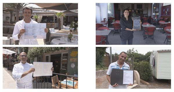 Les restaurateurs de l'addition SVP 2016 sur la Côte d'Azur