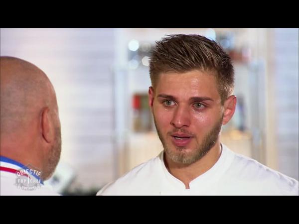 Départ de Charly Leroux en larmes d'Objectif Top Chef