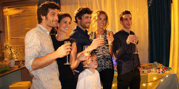 Adrian le nouveau de Clem avec Jérôme, Clem, Alizée, Vava et Hicham