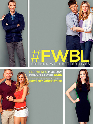Poster promo de Friends with better Lives : série Tv rafraichissante