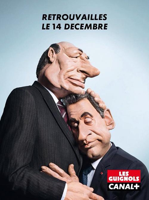Sarko et Chirac les retrouvailles des guignols