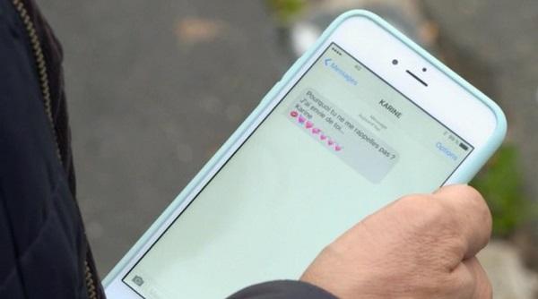 Le SMS de Karine à Nicolas