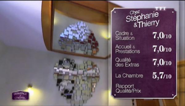 Les notes de Stéphanie et Thierry sont hautes : 7 partout sauf 5,7 pour la chambre