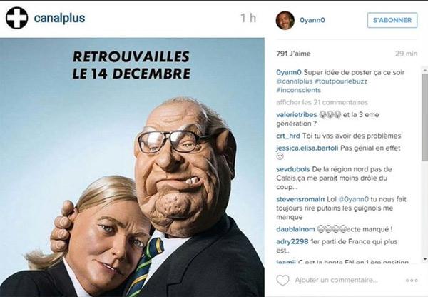 Avis sur la réaction de Yann Barthes sur la pub des Le Pen pour Les guignols de l'info
