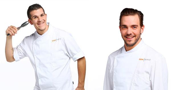Les 2 chefs belges alexandre et kevin de top chef 2016 / Photo M6