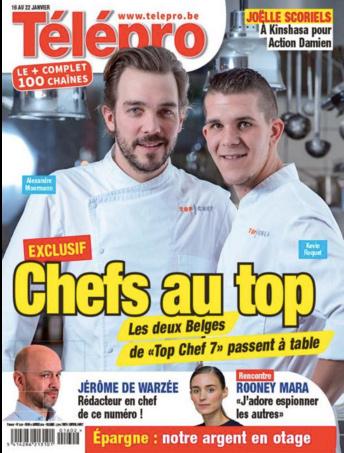 Alexandre et Kéké de Top Chef en une de Télé Pro