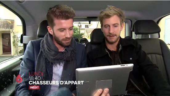 2 beaux gosses compétiteurs dans Chasseurs d'apparts sur M6 du 4 au 08/01/2016