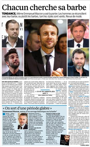 Le Parisien consacre une page le 18/01/2016 sur la barbe des stars et politiciens ;)