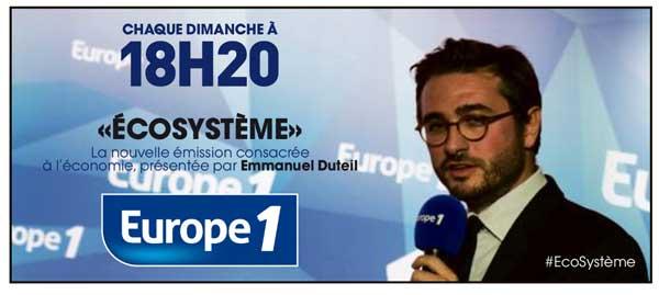 Vos commentaires sur Ecosystème sur Europe 1