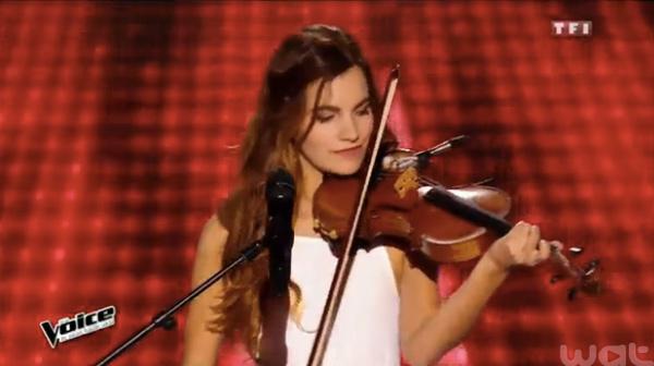 Avis et commentaires sur Gabriella dans The Voice 2016 avec son violon