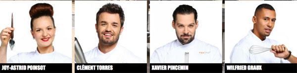 Avis sur les chefs de Top Chef 7 Joy Astrid, Clement, Xavier et Wilfried / Capture écran M6