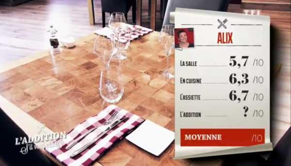 Vos avis sur le restaurant d'Alix : peut-elle être la gagnante de l'addition SVP ?