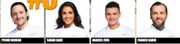Vos commentaires sur les candidats de Top Chef saison 7 : Sarah, Pierre, Gabriel et Franck / Capture écran M6