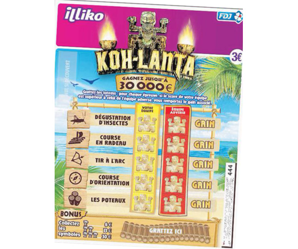 Le jeu à gratter de Koh Lanta vous aviez aimé ?