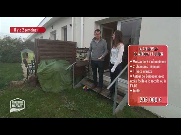 Le bien proposé par Arnaud a le plus plu à Melody et Julien