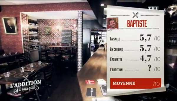 Baptiste peut-il gagner l'addition SVP le 19/02  avec les notes de l'assiette dont un 3 de Nicolas.