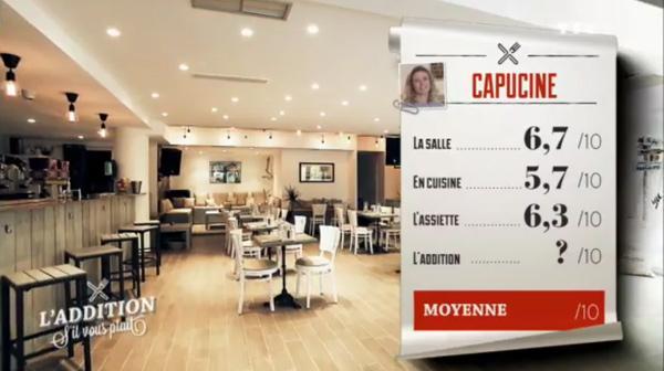 Les notes de Capucine dans l'addition SVP : peut elle être la gagnante avec son resto tout récent ?