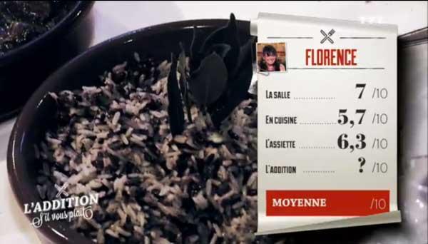 Les notes de Florence dans l'addition SVP pour son resto équestre