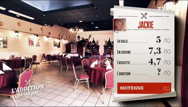 Les notes de Jackie assez basses pour l'assiette ou encore la salle.