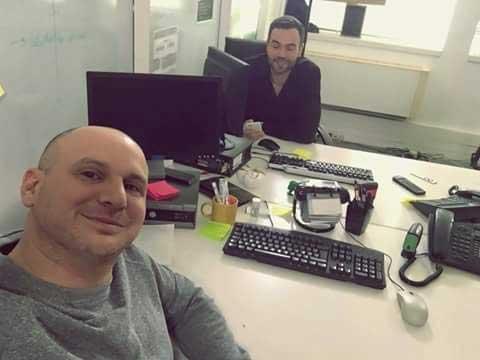 Jérémy et Adrien au commissariat dans les mystères de l'amour 12 //Photo Facebook Jérémy Wulc