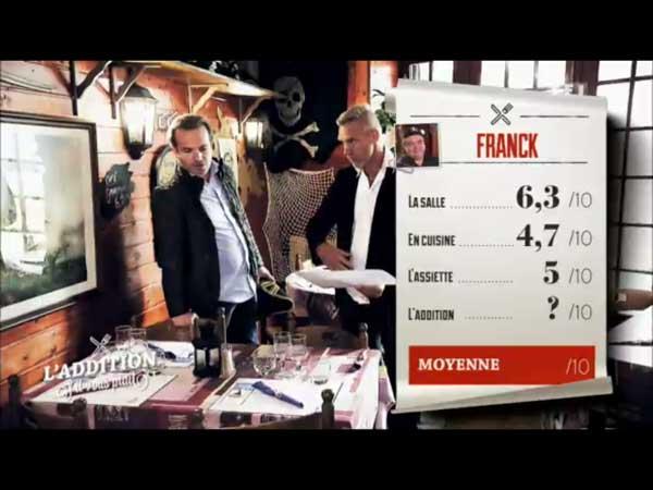 Les notes de Franck dans l'addition s'il vous plait pour son resto pirates
