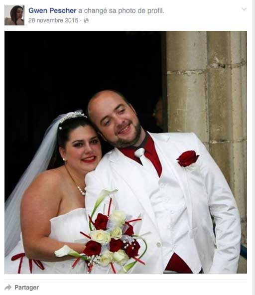 Photo de mariage de Gwendoline et Vivian sur Facebook